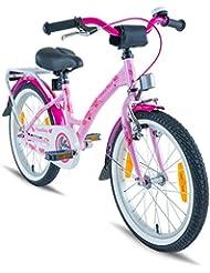 Prometheus vélo Enfant 18 Pouces pour garçons et Filles en Rose et Violet à partir de 6 Ans avec Freins V-Brake en Aluminium et rétropédalage - Classic 18 Pouces modèle 2019