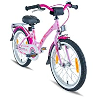 3c9b9ec990b PROMETHEUS Kids bike 18 inch Girls in pink purple   white with alloy  kickstand and carrier rack