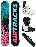 Airtracks Damen Snowboard Set - Board Polygonal 144 - Softbindung Master W - Softboots Savage W 38 - SB Bag