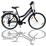 Talson 26 Zoll Fahrrad 21-Gang Shimano Schaltung mit Beleuchtung nach STVO Bordeaux Doppelrahmen