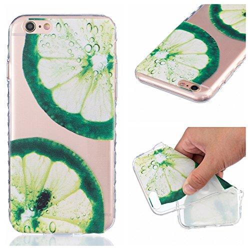 Qiaogle Téléphone Coque - Soft TPU Silicone Housse Coque Etui Case Cover pour Apple iPhone 5 / 5G / 5S / 5SE (4.0 Pouce) - BF76 / Citron BF76 / Citron