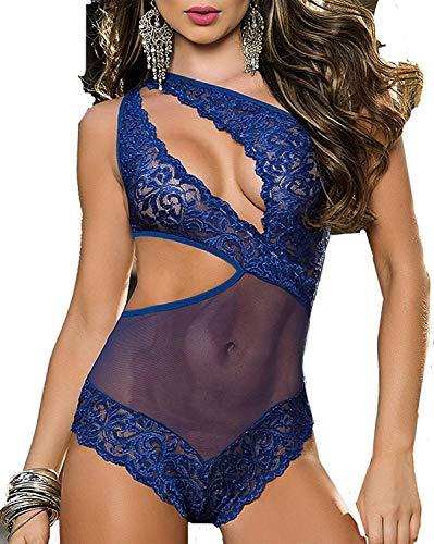 Vestito da Notte da Notte Notte da da Notte da Completi alla Moda Donna da Notte da Notte da Notte da Notte da Notte in Pizzo (Color : Blau, Size : M)