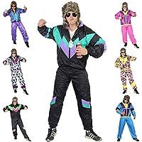 Foxxeo Premium 80er Jahre Kostüm für Herren Damen Trainingsanzug Assianzug Assi Gr. S – XXXXL