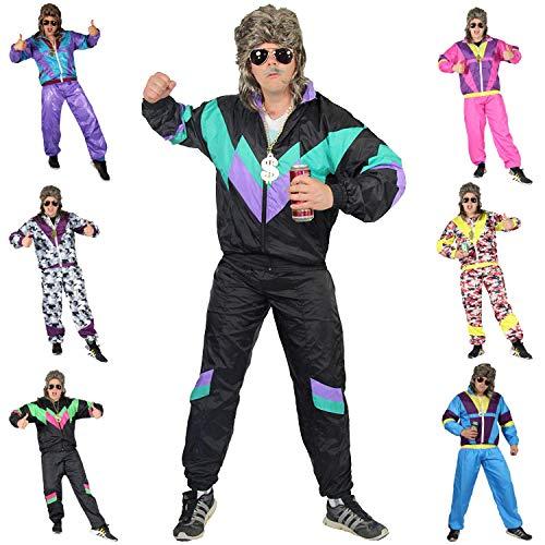 Foxxeo Premium 80er Jahre Kostüm für Erwachsene Trainingsanzug Assianzug Assi Gr. S - XXXL Größe - 80er Herren Kostüm