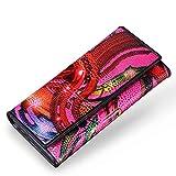 91054fa94 LCDY Cartera De Mujer Casual Bolso De Embrague Largo Billetera De Impresión  De Avestruz Tres Veces,20 * 1.5 * 2 * 12cm