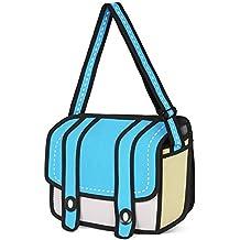 Lifebe BG Borsa messenger Fashion 3D Jump Style, effetto disegno dei cartoni animati 2D