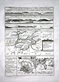 The Prospect of Cape Cassepourry in America, ... / Cayenne French Guayana South America - Kupferstich / engraving map Karte -