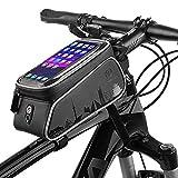 Bolsas para cuadros de bicicletas, pantalla táctil resistente al agua Ciclismo Manillar Parte frontal del marco del teléfono Soporte para el iPhone Samsung Galaxy Otro Hasta 6 pulgadas Smartphone
