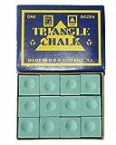 #2: Billiedge Triangle Billiard Snooker Pool Chalk 12 Pcs Green