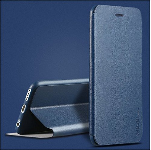 for Apple iPhone 7 Flip Cover Case [X-Level] [ULTRA Thin] Stand Flip Cover Flip Case for Apple iPhone 7 Stand Flip Cover Case (Deep Blue)