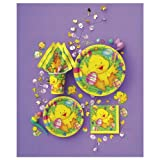"8 x 9"" Easter Ducky Paper Party Plates."