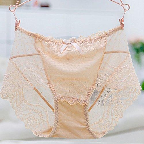 RRRRZ* Sexy Unterwäsche Spitze weibliche Versuchung transparent große Taschen von hohen und Frau Unterwäsche 3 Ecke ,M, Pants Farbe