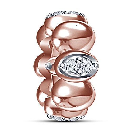 lilu Jewels Blanc CZ Bracelet Charms Pandora Chamilia Biagi Charme Bracelet en argent Jaune