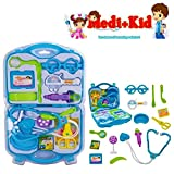 #8: Happy GiftMart Pretend Role Play Doctor Set for Kids and Toddlers (Suit Blue 15 Pcs)