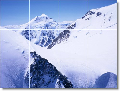INVIERNO FOTO MURAL AZULEJO W032  12 75X 43 18CM CON (12) 4 25X 4 25AZULEJOS DE CERAMICA
