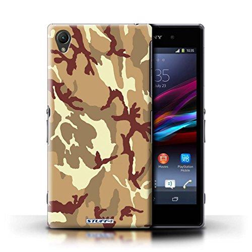 Kobalt® Imprimé Etui / Coque pour Sony Xperia Z1 / Bleue 1 conception / Série Armée/Camouflage Marron 4