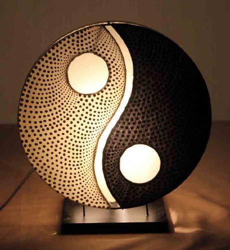 Asiatische Tischleuchten Yin Yang Dot Black (LA12-89/WB/S), Tischlampen, Designer Stimmungsleuchten, Bali (Yin-yang-stoff)