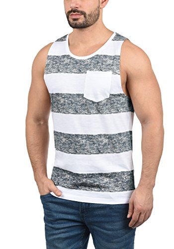 Blend 20706887ME Viva Herren Tank-Top Muskelshirt Fitness-Shirt mit Rundhals-Ausschnitt aus 100% Baumwolle, Größe:M, Farbe:Navy (70230) -