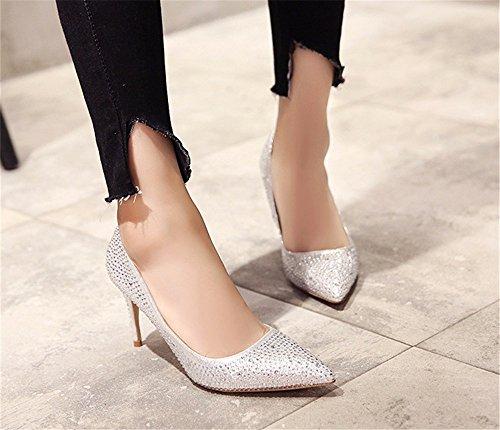 FLYRCX In autunno e in inverno tacco fine tallone, sexy donna tacchi alti scarpe C