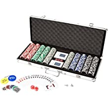 Ultrasport - Set de póquer, maletín con 500 fichas de póquer (380100000250)