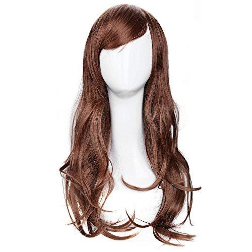 70cm Frauen Lang Big gewellt braun Perücke Haar -