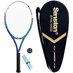 Senston Calidad Raqueta de Tenis para Adulto + Bolsa de Tenis + 1 grip + 1 Amortiguadores