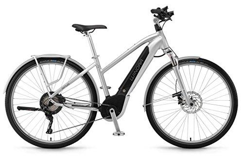 "Winora Sinus iX11 Urban 500Wh Bosch Intube Elektro Fahrrad 2018 (28\"" Damen Trapez 48cm, Silver Damen)"
