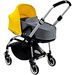 Bugaboo Bee3 Bassinet & Sun Canopy - Bright Yellow - Grey Melange by Bugaboo