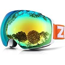 ZIONOR Lagopus X4 Snowboard Gafas de esquí Anti Niebla Rápido Lens-changing Sistema 100% Protección UV400 Suave del flujo de aire Vista Panorámica Correa Ajustable para el Esquí Snowboard Unisex