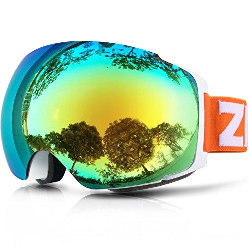 ZIONOR Lagopus X4 Snowboard Skibrille Anti-Fog Magnet Lens-Swapping Tech 100{7e0d2d300405d31dcdc0a3e79f1d192d934c51cf04fea0a47e266d7ed81708e9} UV400 Schutz Air-Flow Panoramablick Verstellbaren Riemen für Skifahren Snowboard Unisex