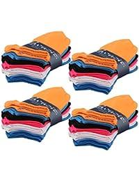 Lavazio® 12 | 24 | 36 | 48 Paar modische Sneaker Socken für Damen in tollen Farben