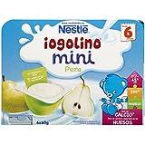 Iogolino Mini Pera a Partir de 6 Meses - Pack de 6 x 60 g - Total: 360 g