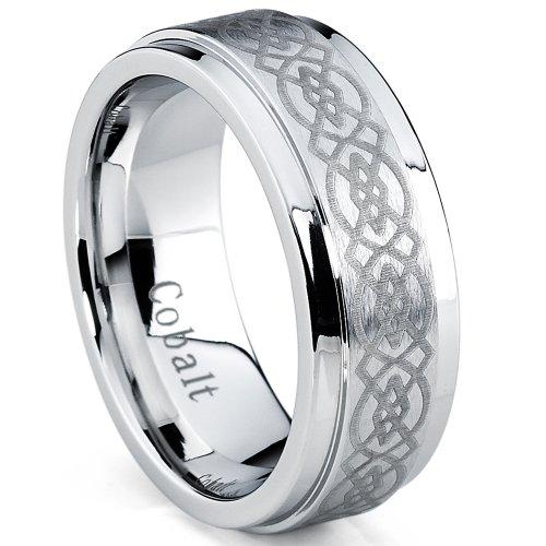 ultimate-metals-co-cobalt-chrome-mens-brushed-celtic-wedding-band-ring-comfort-fit-8mm-size-y