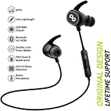 CrossBeats PULSE IPX5 Bluetooth In-Ear Sports CVC 6.0 Noise Cancelling Headphones with Built-In Mic, 8 Hours Playtime, 272E, Case