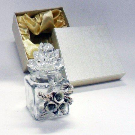 Bomboniere profumatore fiore in cristallo