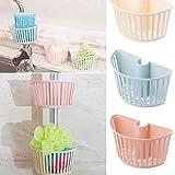 qiman Frottee accrochante Inhaber Spüle Caddy Veranstalter für Küche Badezimmer Wasserhahn Dusche hellblau