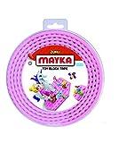 Mayka 34649 - Klebeband für Lego Bausteine, 2 m selbstklebendes Band mit 2 Noppen, rosa Bausteinband, flexibles Noppenband zum Bauen mit Legosteinen für Kinder ab 3 Jahre, wiederverwendbar
