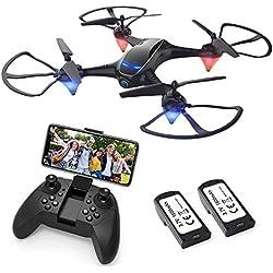 EACHINE E38 Drone avec caméra HD 720P WiFi App FPV Aile Fixe Hauteur verrouillé et Retour avec Une Seule clé ( 2 Batteries Inclus )