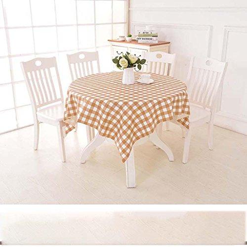 ZHOU Nappe carrée en Plastique de PVC de Petite Grille carrée imperméable et Huile, A