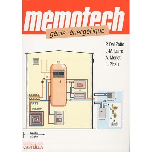 Mémotech, génie énergétique : Bac Pro, Bac STI, BTS, DUT