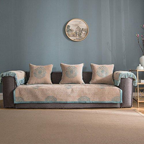 GIEODKWKM Tissu canapé Anti-dérapant Minimaliste Moderne Étendue Housse de canapé Imprimé Floral Housse canapé-A 210x90cm(83x35inch)