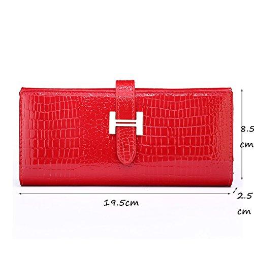 CLOTHES- LEuropa e gli Stati Uniti Lady Wallet Portafoglio Multifunzionale Portafoglio Multifunzionale Portafoglio ( Colore : Oro ) Rosso Venta Barata De Bajo Precio De La Tarifa De Envío JmcNJ