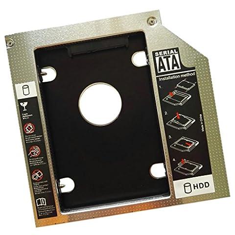 MagiDeal 12.7mm Universel SATA SSD HDD Disque Dur CD/DVD-ROM Avec Plaque De Support Accessoire Ordinateur Portable PC