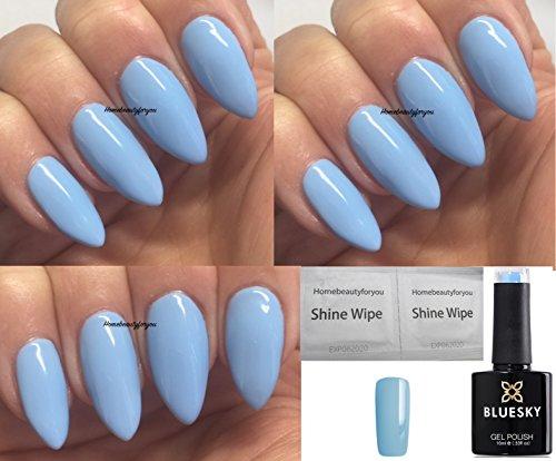 Bluesky Sky Queen Gel-Nagellack, 10 ml, Trocknung unter UV- / LED-Licht, Babyblau, Sommerfarbe 2018,...