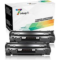 7Magic Compatible HP 85A CE285A Cartucho de Tóner (2 Negro) Para HP Laserjet Pro P1102w P1102 1102 M1212 M1132 mfp M1210 M1212nf Impresora