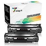7Magic Kompatibel HP 85A CE285A Toner Patronen (2 Schwarz) für HP Laserjet Pro P1102w P1102 M1217mfp M1212nf M1132 M1134 Drucker