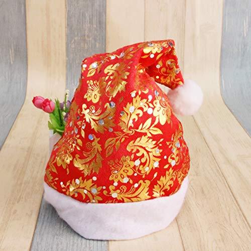 Yetta Home Weihnachtsmütze Weihnachtsverzierung Gold Samt Sun Blume Weihnachtsmütze Hochwertige Schneeflocke Weihnachtsmütze Phoenix Cap
