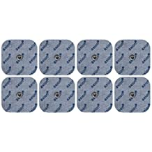 8 electrodos para Beurer Hydas y Vitalcontrol SEM 40//42 /43/44 (45x45mm), almohadillas conexión de botón 3,5mm