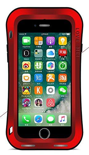 7Plus Étui étanche pour Apple iPhone iPhone 7+ (14cm), Love Mei marque [Curve style] Matière en aluminium avec protection écran en verre trempé * * * * * * * * * * * * * * * * Garanti