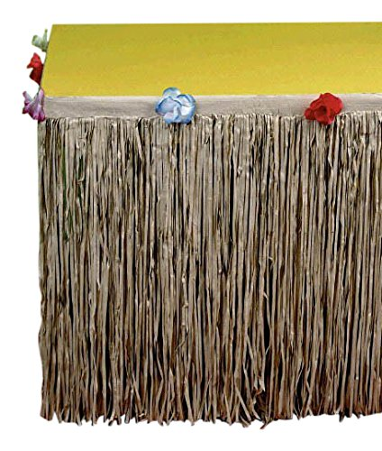 Amscan-International-Faldn-decorativo-para-mesa-tejido-natural-diseo-hawaiano
